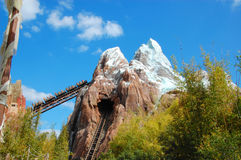 Expedition Everest. The trademark rollercoaster of the Animal Kingdom theme park celebratin its 15th anniversary on the 22nd of April Stock Images