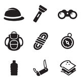Expedition Icons Royalty Free Stock Images
