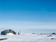 Expedition on islands. White Sea, Russia Royalty Free Stock Photography
