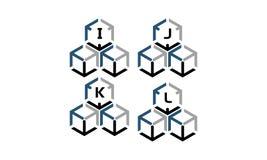 Expedition Marketing Arrow Box Logotype Set. Vector Royalty Free Stock Photography