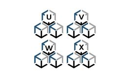 Expedition Marketing Arrow Box Logotype Set. Vector Royalty Free Stock Photo
