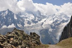 Expedition Mont Blanc Stockbilder