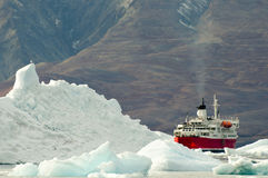 Expedition Ship - Greenland Royalty Free Stock Image