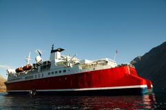 Expedition Ship. In remote Greenland Stock Images