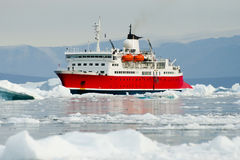 Expedition Ship - Scoresby Sound - Greenland. Expedition Ship in Scoresby Sound - Greenland stock images