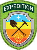 Expedition Shoulder Patch Vector art Stock Images