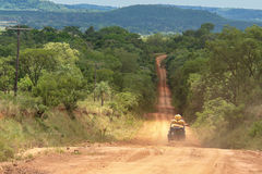 Expedition in 4x4. In south america Royalty Free Stock Photo