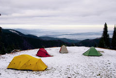 Expedition tents Stock Photography