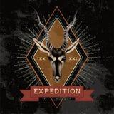 Expeditionsreiselogo-Designvektor lizenzfreie abbildung