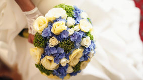 Expencive fancy bouquet with beautiful blue and pastel roses Stock Images