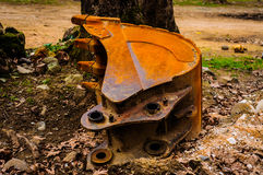 Expended Excavator Bucket Stock Image