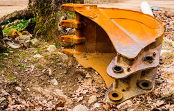 Expended Excavator Bucket Royalty Free Stock Image