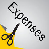 Expense cut Royalty Free Stock Image