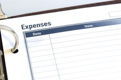 Expense Sheet Royalty Free Stock Image