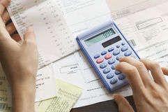 Expenses Being Calculated Stock Image