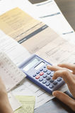 Expenses Being Calculated Royalty Free Stock Image