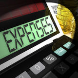 Expenses Calculated Means Company Costs And Accounting Royalty Free Stock Images