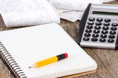 Expenses calculation Stock Photos