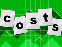 Expenses Costs Represents Paying Bills And Buy Stock Photography