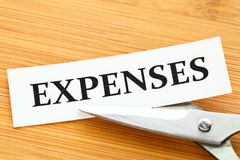 Expenses cut Royalty Free Stock Image