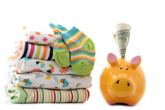 Expenses For Newborn Baby Royalty Free Stock Photo