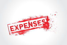 Expenses grunge text. With white background Royalty Free Stock Photography