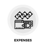 Expenses Line Icon. Expenses icon vector. Flat icon isolated on the white background. Editable EPS file. Vector illustration Stock Images