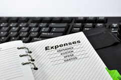 Expenses Note Royalty Free Stock Photography