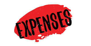 Expenses rubber stamp Stock Images