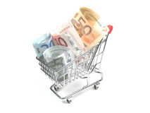 Expenses of shopping Stock Image