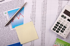 Expenses Stats Royalty Free Stock Photo