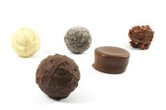 Expensive Assorted Chocolates Stock Images