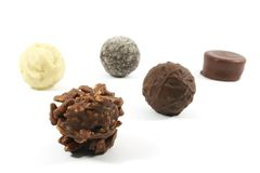 Expensive Assorted Chocolates Royalty Free Stock Image