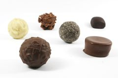 Expensive Assorted Chocolates Stock Photography