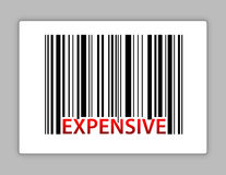Expensive barcode illustration design Royalty Free Stock Image