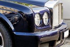 Expensive  black car -close up Stock Photo