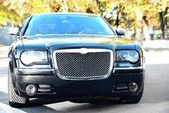 Expensive black car Stock Photography