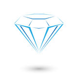 Expensive blue diamond Royalty Free Stock Photos