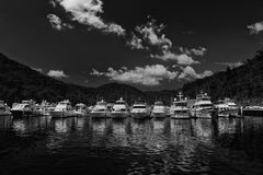 Expensive boats in a Sydney marina Royalty Free Stock Photography