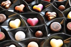 Luxury chocolates, colourful candy Stock Photography