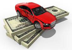 Expensive car insurance. 3D render image representing an Expensive car insurance royalty free illustration