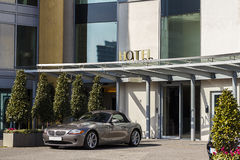 Expensive Car Outside Hotel Royalty Free Stock Photo