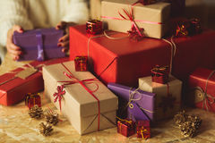 Expensive christmas gifts Stock Image