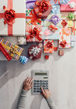 Expensive Christmas gifts Stock Images