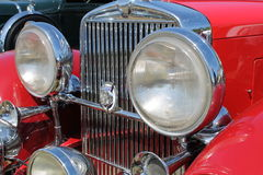 Expensive classic antique luxury american car Royalty Free Stock Photos
