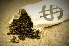 Expensive coffee beans Royalty Free Stock Photos