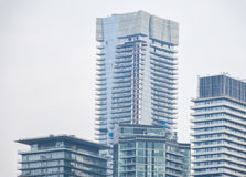 Expensive condo buildings and living homes Stock Photography