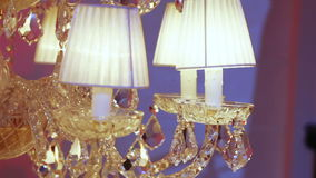 Expensive crystal chandelier stock footage