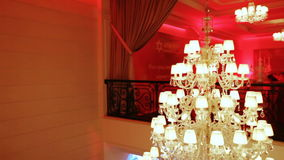 Expensive crystal chandelier stock video
