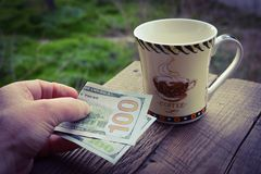 Expensive cup of coffee Stock Photography